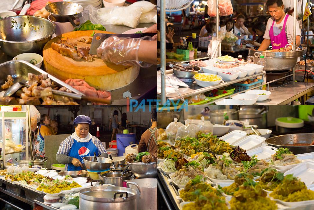 ตลาดวัดชัยมงคลพัทยาใต้ ตลาดของอร่อยยามค่ำคืน Ipattaya