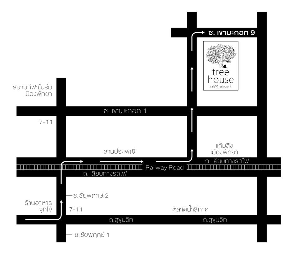 แผนที่ร้าน Tree House pattaya